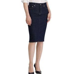 Ralph Lauren Dark Blue Jean Skirt